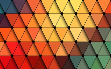 abstraction, texture, line, form, colored triangles