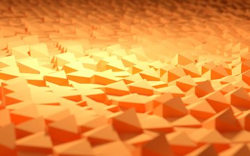 light, macro, sand, rendering, orange, geometry, 3d