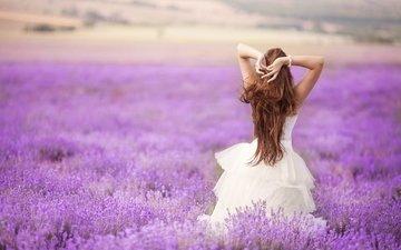 цветы, девушка, настроение