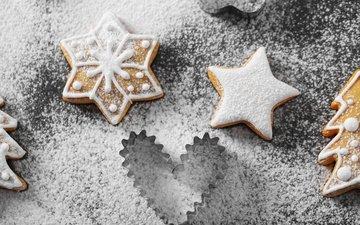новый год, рождество, сладкое, печенье, глазурь, xmas, декорация, елочная, пряник, merry