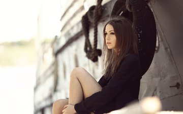 девушка, взгляд, шатенка, ксения, ксения кокорева