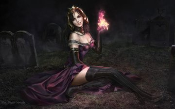 art, dress, sitting, erotic, necromancer, magic the gathering, liliana vess
