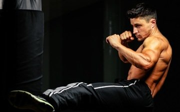 male, blow, boxing, training