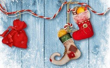 снег, новый год, украшения, зима, игрушки, носки, рождество, дерева, декорация, елочная, merry