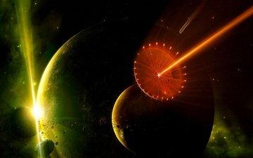 звезды, луч, планеты, астероиды, planets, звезд