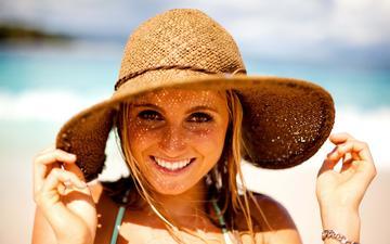 девушка, шляпка, смайл, грань, gевочка, веселая, alana blanchard