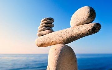 камни, баланс, булыжники