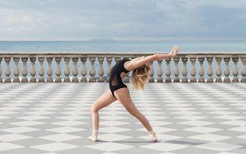 девушка, изгиб, балерина, пуанты