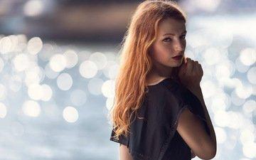 девушка, портрет, взгляд, модель, волосы, лицо, рыжеволосая