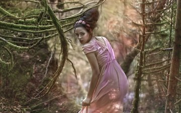 лес, девушка, фантастика, искусство, agnieszka lorek