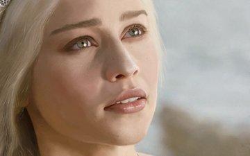 look, face, game of thrones, emilia clarke, daenerys targaryen
