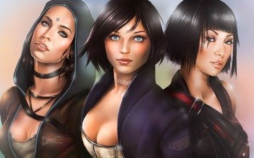 art, girls, game, faith, devil may cry, dmc, kat, bioshock infinite, elizabeth, mirror's edge