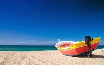 море, лодка, катер