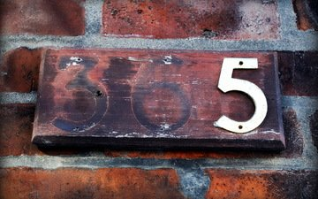 фон, стена, цифры, кирпичи, номер, 5, 365
