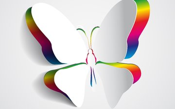 background, color, butterfly, wings, 3d