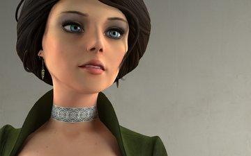 girl, look, rendering, character, bioshock infinite, elizabeth