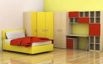 стиль, интерьер, дизайн, кровать, спальня