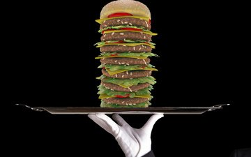 батлер, в стиле, супер бургер