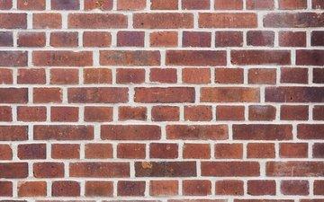 узор, стена, кирпичи, цемент