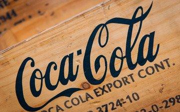 дерево, напиток, логотип, кока-кола