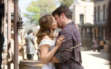 nathan fillion, castle, stana katic, once upon a time in the west