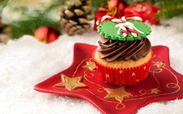 сладкое, выпечка, десерт, пирожное, кулич, кекс, рождественская, елочная, baking