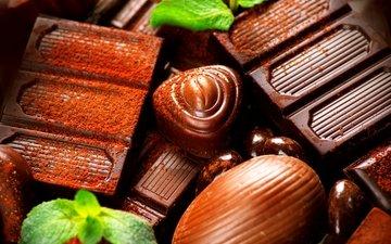 конфеты, шоколад, сладкое, десерт, конфета, в шоколаде, какао, сладенько