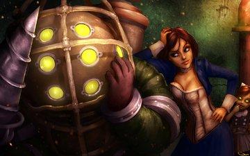 girl, the game, big daddy, bioshock infinite, elizabeth