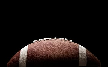 leather, the ball, white, american football, ball