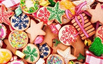 сладкое, печенье, выпечка, новогоднее, елочная, baking, фигурное