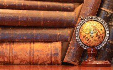 книги, глобус, переплет, твердый переплет, small world