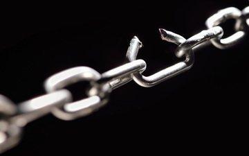 металл, цепь, метал, цепи, broken link