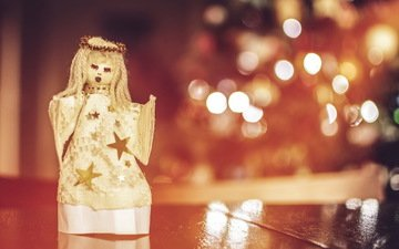 macro, toy, angel, holiday