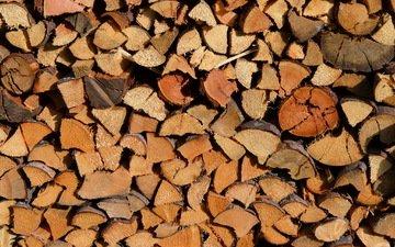 макро, фон, дрова, лесоматериал