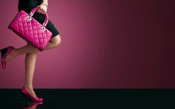 стиль, девушка, ноги, сумочка, каблуки, туфли, мода, без задних ног, purse