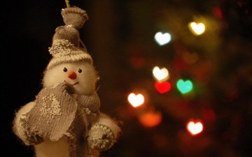 tree, toy, snowman, holiday