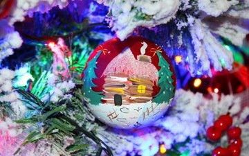 macro, toy, ball, holiday