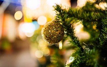 tree, toy, ball, holiday