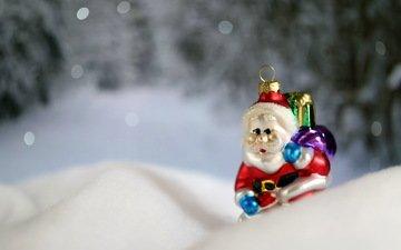 macro, toy, holiday, santa claus