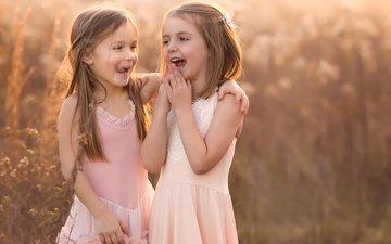 девочки, смех, giggles
