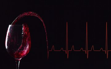 line, background, wine, a glass of wine, electrocardiogram