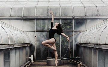 девушка, поза, балерина