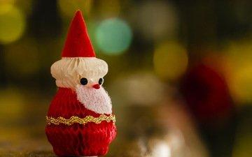 macro, toy, santa claus, holiday