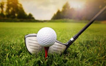 трава, мяч, гольф, бал