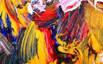 абстракция, цвета, краски, ярко, живопись