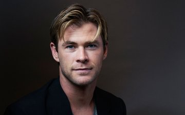 portrait, look, actor, photographer, face, male, chris hemsworth, victoria will