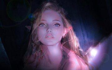 art, girl, fantasy, elf