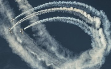 the sky, aircraft, show