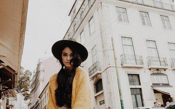 девушка, звезда, улица, актриса, шляпа, ванесса хадженс, ванесса хадженс