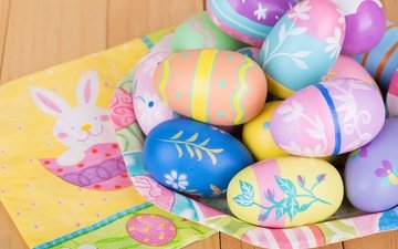 colorful, holidays, easter, eggs